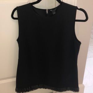 Ann Taylor Tops - NWT Ann Taylor Black Tank Top with Fringe